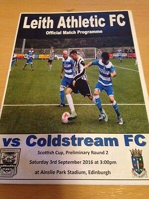 2016/17 Leith Athletic V Coldstream Fc - Scottish Cup