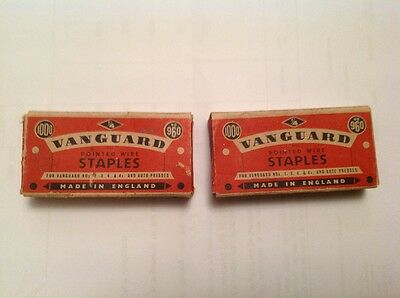 vintage vanguard staples box x2 collectable advertising BOX only!