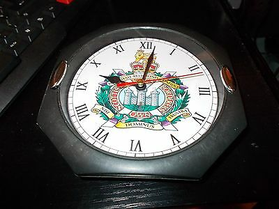 The Kings Own Scottish Borderers 130Mm Glass Front Wall Clock..