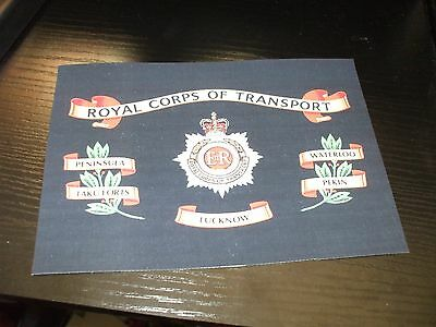 """The Royal Corps Of Transport Battle Honours Canvas Print 7""""x5"""" Approx"""