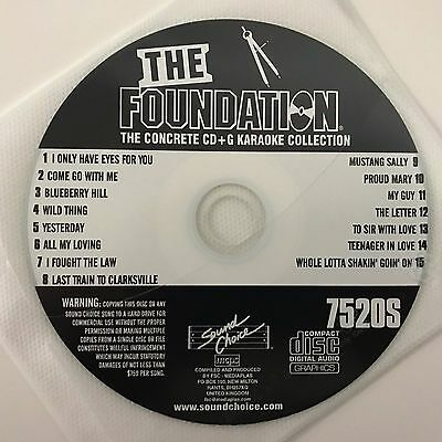 Sound Choice Karaoke The Foundation The Concrete Collection Cd+G Sc 7520S