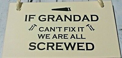 If G Can't Fix it screwed/plaque/sign/gift/spade/trowel/shed/tools/funny/2017