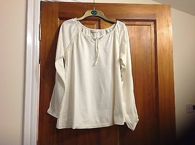 Mothercare cream maternity top - size 16
