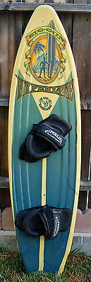 """Hyperlite Big Gun Wakeboard 59"""" With Binding Collectible Made In Usa"""
