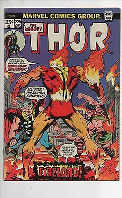 Thor #225 & 226 Vf To Vf/nm 1974 1St Appearance Firelord Galactus