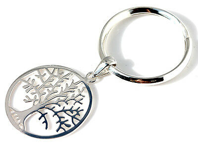 """925 sterling silver """"Tree of life"""" keyring"""