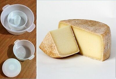 Pecorino Hard Cheese Full Making Kit + Mold With Follower Large For 2.2lbs/1kg