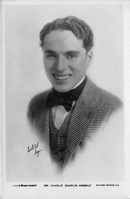 Charlie Chaplin Postcard Real Photograph Rotary Photo Bromide Card Actor 11675B