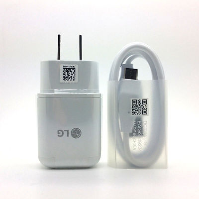 OEM LG Fast Adaptive USB Wall Charger+Type C Cable for LG G5 G6 V10 V20 Nexus 6P