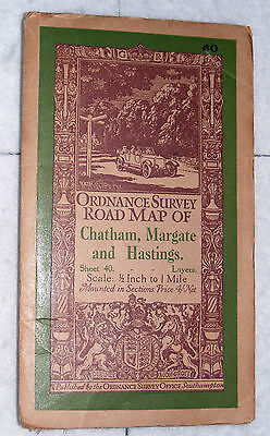 Ordnance Survey Road Map of Chatham etc, 1/2 inch to a mile. Sheet No.40, 1928