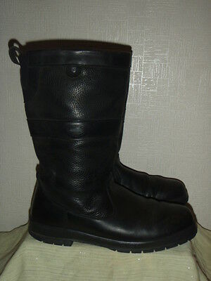 Gents Dubarry Black Leather Boots Size Uk 10 Eur 44.used