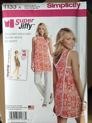 Simplicity Sewing Pattern 1133 Super Jiffy Dress Top Pants Sizes 6-18 New