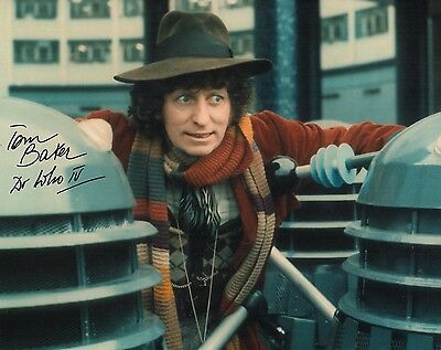 Tom  Baker Dr Who Number 4  Authentic Hand Signed 10-8 Photo