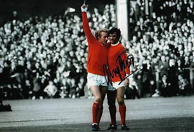 George Best Inperson Authentic Hand Manchester United  Signed 12-8  Photo