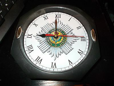 The Scots Guards 130Mm Glass Front Wall Clock