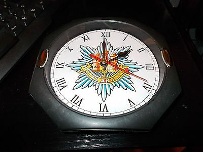 The Royal Anglian Regiment  130Mm Glass Front Wall Clock