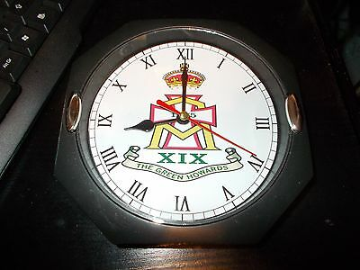 The Green Howards Regiment 130Mm Glass Front Wall Clock