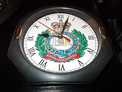 The Royal Engineers Regiment  130Mm Glass Front Wall Clock