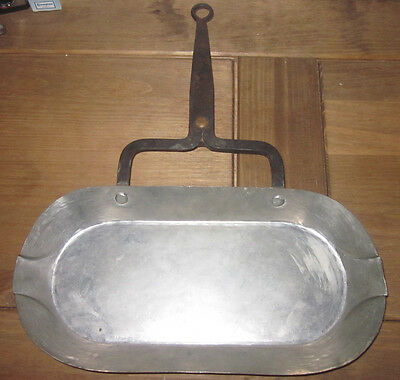 french vintage drip pan jus tin lined copper pan