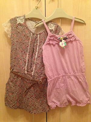 girls summer playsuits age 3years