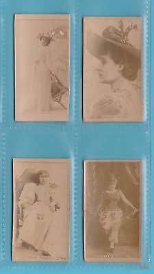 Actresses - Kinney Bros. Of U.s.a. - 4 Rare Photographic Actresses Cards E- 1886