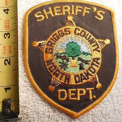 Griggs County North Dakota Sheriff Patch (Highway Patrol, State Police, Sheriff)