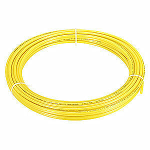 """GRAINGER APPROVED Tubing,9/32"""" ID,3/8In OD,250 Ft,Yellow, 4HHE7"""