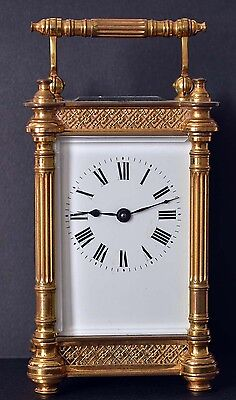 Superb Ornate Antique French Carriage Clock Running Well
