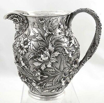 GORGEOUS KIRK REPOUSSE Sterling PITCHER BACCHUS FACE