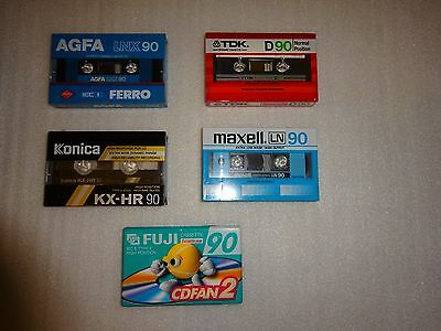 Ultra Rare Vintage Audio Cassette Tapes - Brand New - 90 Minutes - Normal & CrO2