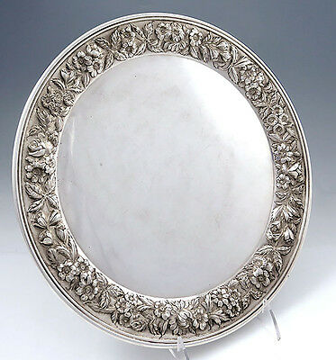 Kirk Repousse Hand Decorated Sterling Tray