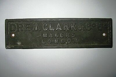 Cast metal plate plaque sign iron