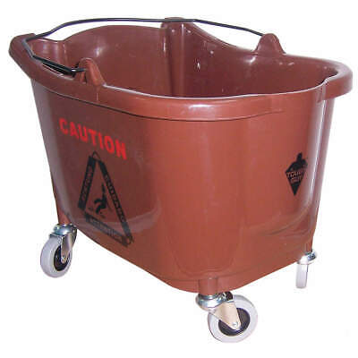 TOUGH GUY Plastic,  Polypropylene Mop Bucket,8-3/4 gal.,Brown, 5CJJ4, Brown