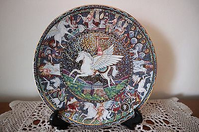 "Royal Worcester Bone China Collectors Plate ""pegasus"" Ancient Greek Collection"