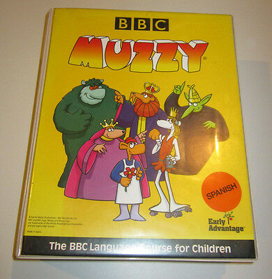 BBC MUZZY Spanish Level 1 VHS EARLY ADVANTAGE - BBC Language Course