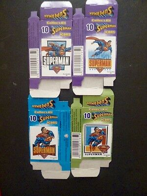 """4""""superman Icons"""" Sweet Cigarette/candy Stick Packets."""