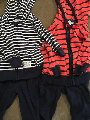 2 Infant Boy Carter's two piece outfits, size 3 Months