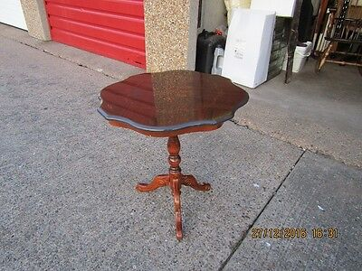 Inlaid Mahogany Tripod Occasional Table