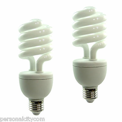 2x Fotolampe Energiesparlampe SYD 26 150W Tageslicht Lampe Studioleuchte