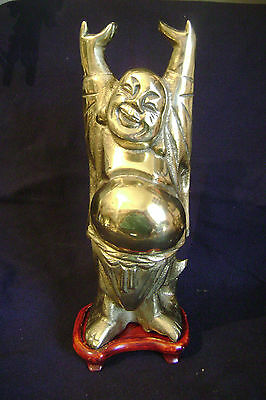 Large Brass Buddha Happy / Laughing / Standing