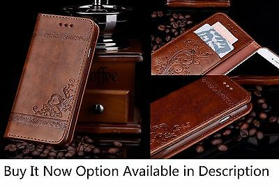 Luxury Classic Leather Stand Flip Front Back Cover Case Wallet Card for IPhone 7