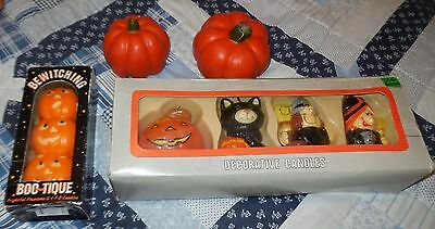 halloween vintage candles lot in box boo tique horror witches display jack o