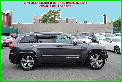 2015 Jeep Grand Cherokee Overland 4x4 Loaded Panorama Roof Tow Hitch Repairable Rebuildable Salvage Wrecked Runs Drives EZ Project Needs Fix Save Big