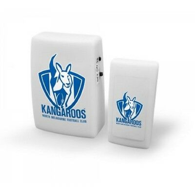 Nth Melbourne Kangas Official AFL Wireless Musical Door Bell FREE POST