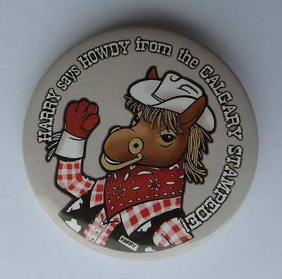 Harry The Horse Says Howdy from The Calgary Stampede Lapel Button