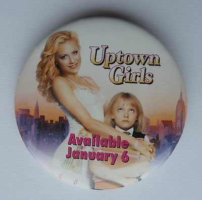BUTTON Uptown Girls Movie DVD Promotion Lapel Hat Button