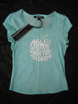 DKNY Turquoise T-Shirt - Age 5 Years - New