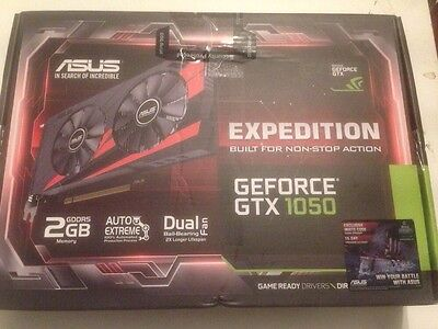 Asus GeForce GTX 1050 EXPEDITION 2GB GDDR5 Graphics Card, 640 Core, 1354MHz GPU,