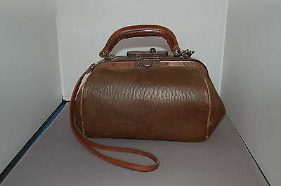 Vintage Small Leather Doctor's Bag