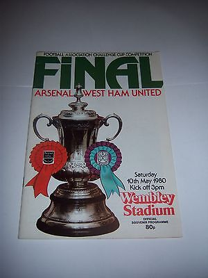 1980 FA CUP FINAL -  ARSENAL v WEST HAM UNITED - FOOTBALL PROGRAMME
